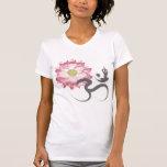 Pink Lotus Flower Yoga White Om Symbol Zen T Shirts
