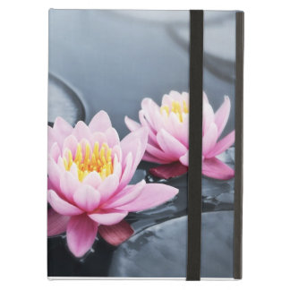 Pink lotus flowers cover for iPad air