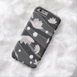 Pink Lotus Flowers on Black Stripes iPhone 6 Case
