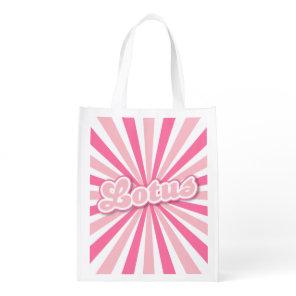 Pink Lotus Grocery Bag