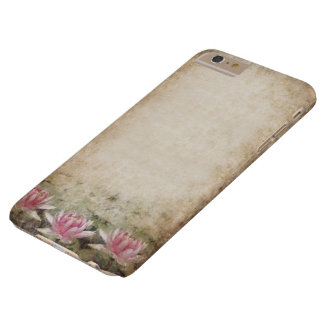 Pink Lotus Grunge Barely There iPhone 6 Plus Case