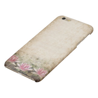 Pink Lotus Grunge Glossy iPhone 6 Plus Case