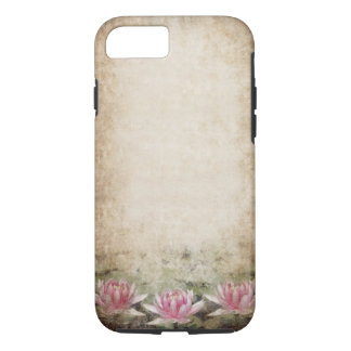 Pink Lotus Grunge Tough iPhone 7 Case