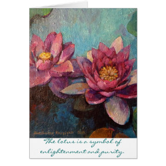 Pink Lotus I Card
