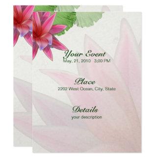Pink Lotus Invitation 4.25 x 5.5