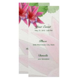 Pink Lotus Invitation 4 x 9.25