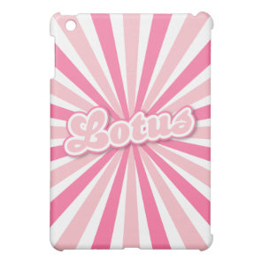 Pink Lotus iPad Mini Case