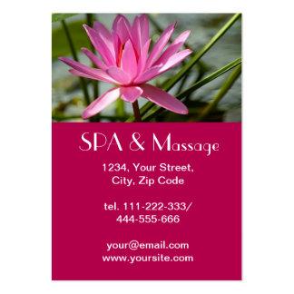 Pink lotus large business card