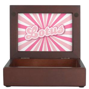 Pink Lotus Memory Box