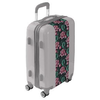 Pink Lotus motif elegant floral pattern Luggage