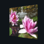 "Pink Lotus on Stretched Canvas<br><div class=""desc"">Fresh Pink Lotus on stretched canvas gives calm feeling to your home or office.</div>"