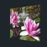 """Pink Lotus on Stretched Canvas<br><div class=""""desc"""">Fresh Pink Lotus on stretched canvas gives calm feeling to your home or office.</div>"""