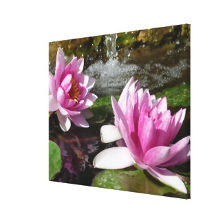 Pink Lotus on Stretched Canvas