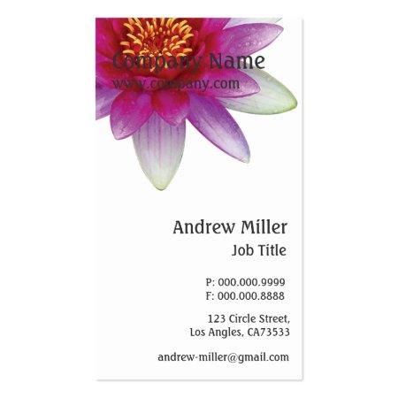 Peaceful Pink Violet Lotus Flower Business Cards