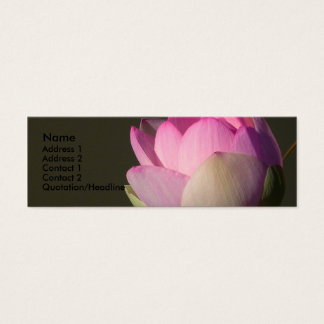 Pink Lotus Profile Card