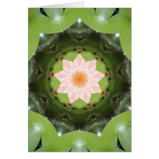Pink Lotus Refraction Stationery Note Card