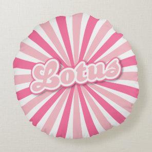 Pink Lotus Round Pillow