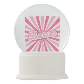 Pink Lotus Snow Globe