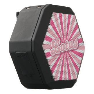 Pink Lotus solar rays Black Bluetooth Speaker