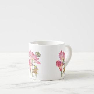 Pink Lotus Stem Coffee Mug