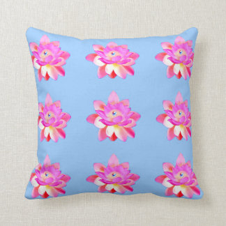 PINK LOTUS W. RADIANT PEARL DECORATIVE HOME PILLOW