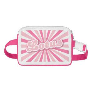 Pink Lotus Waist Bag