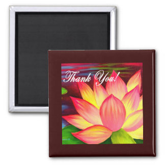 Pink Lotus Water Lily Flower Thank You - Multi Magnet
