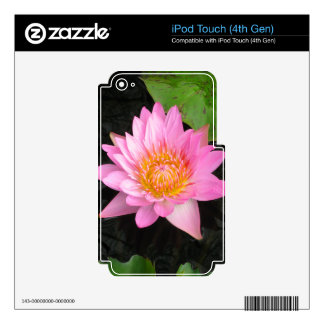 Pink Lotus Waterlily Decal For iPod Touch 4G