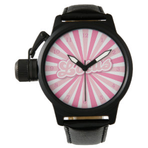 Pink Lotus Wrist Watch