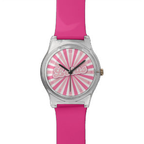 Pink Lotus Wristwatch