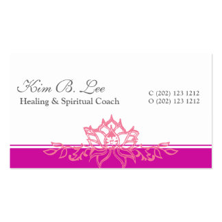Pink Lotus Yoga Om Double-Sided Standard Business Cards (Pack Of 100)