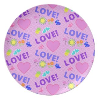 Pink Love - 80s Rock Plate