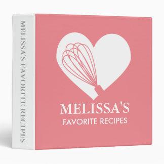 Pink Love Baking Recipe Binder