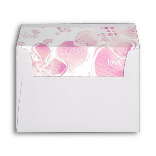 Pink Love Blossoms Envelope