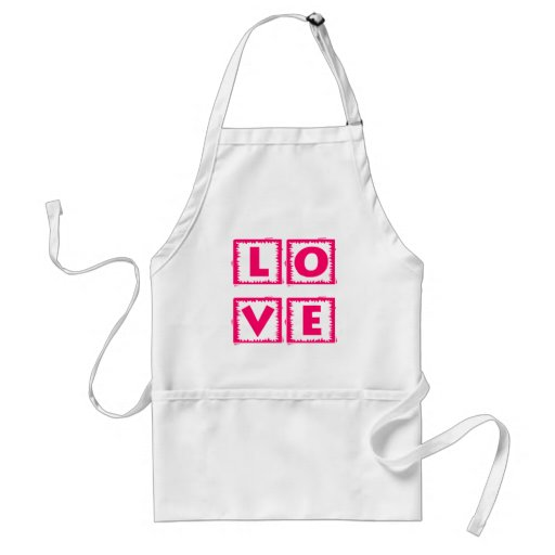 Pink Love Box Adult Apron