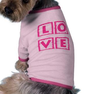 Pink Love Box Dog Tee Shirt