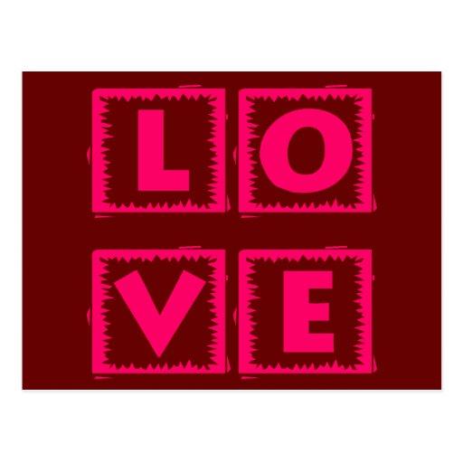 Pink Love Box Postcard