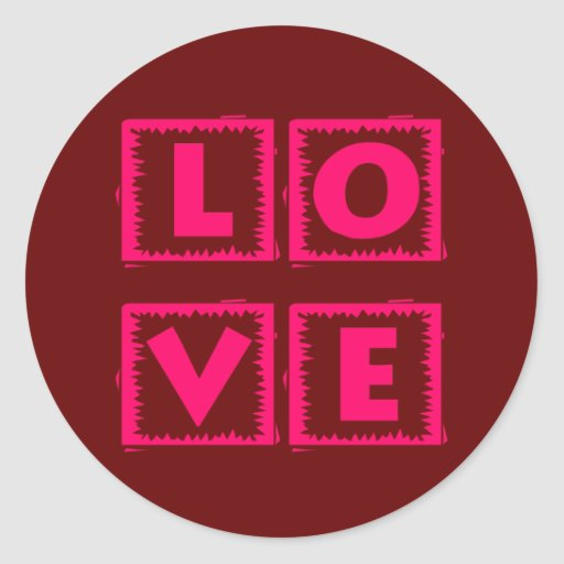 Pink Love Box Sticker