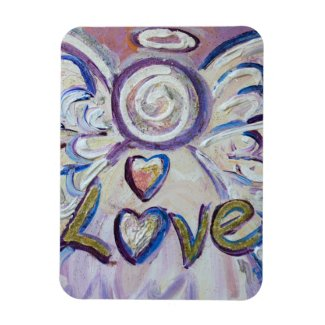 Pink Love Guardian Angel Word Magnet