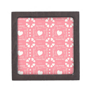 Pink Love Heart Be Mine Jewelry Box