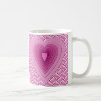 Pink Love Heart Design Mug