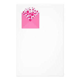 Pink Love Heart Envelope Stationery