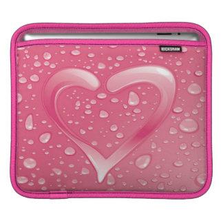 pink love heart iPad sleeve