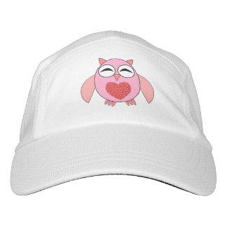 Pink Love Heart Owl Hat