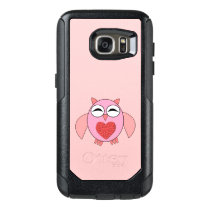 Pink Love Heart Owl Phone Case