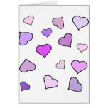 Pink Love Heart Pattern Cards