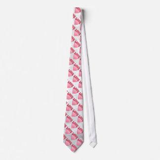 Pink Love Heart Pattern Tie