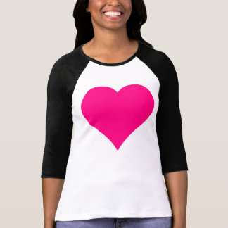 Pink Love Heart Shape T-Shirt