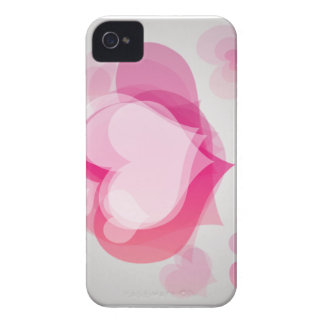 pink love hearts iPhone 4 case