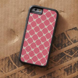 Pink Love Hearts Mesh Vintage Retro Pattern iPhone 6 Case